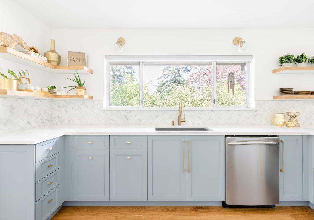 Cabico Custom Cabinets - Projet cuisine Royal Oak - vue coin lavabo
