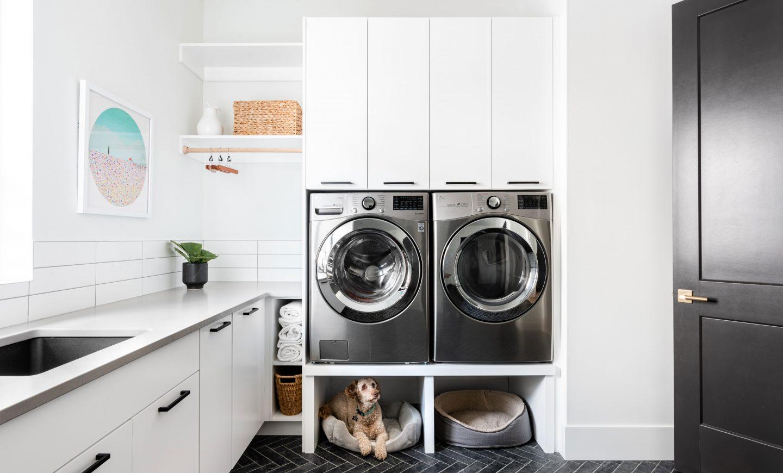 Cabico Custom Cabinets - Projet salle de lavage The Lookout - vue d'ensemble