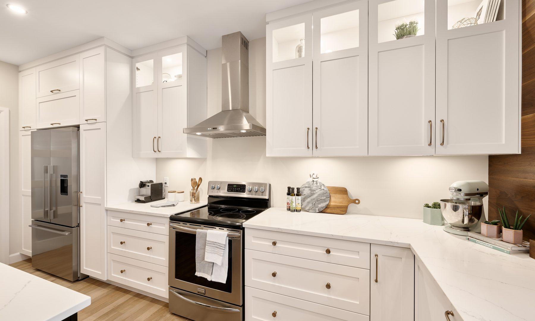 Cabico Custom Cabinets - Projet cuisine Des Sables - vue sur les comptoirs