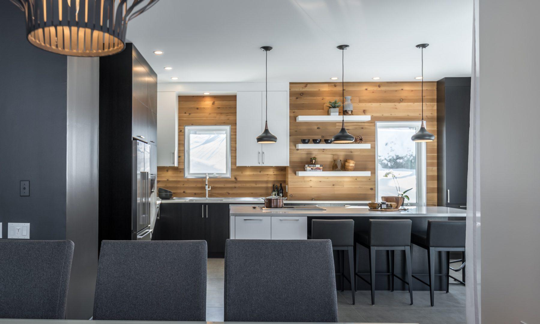 Cabico Custom Cabinets - Projet cuisine Winterly - vue de la table à manger
