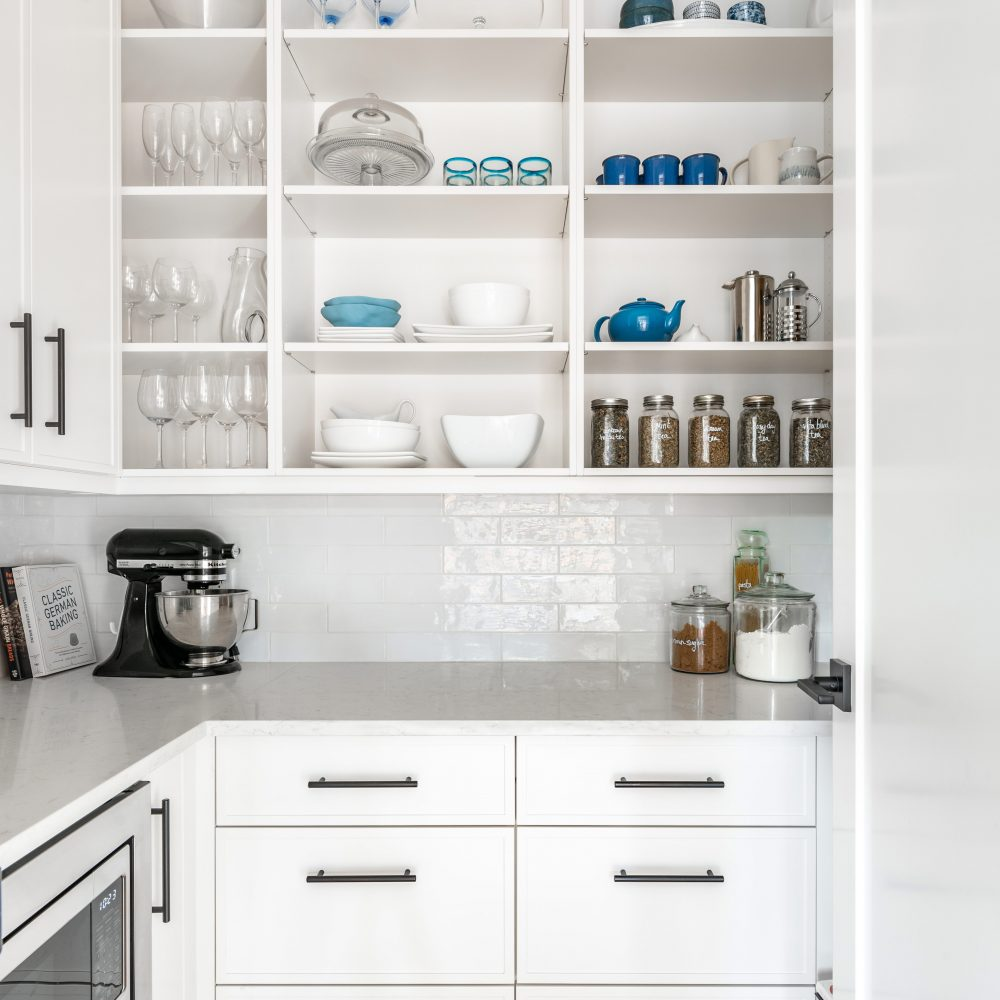 Cabico Custom Cabinets - Oak Bay Village pantry project – shelves view
