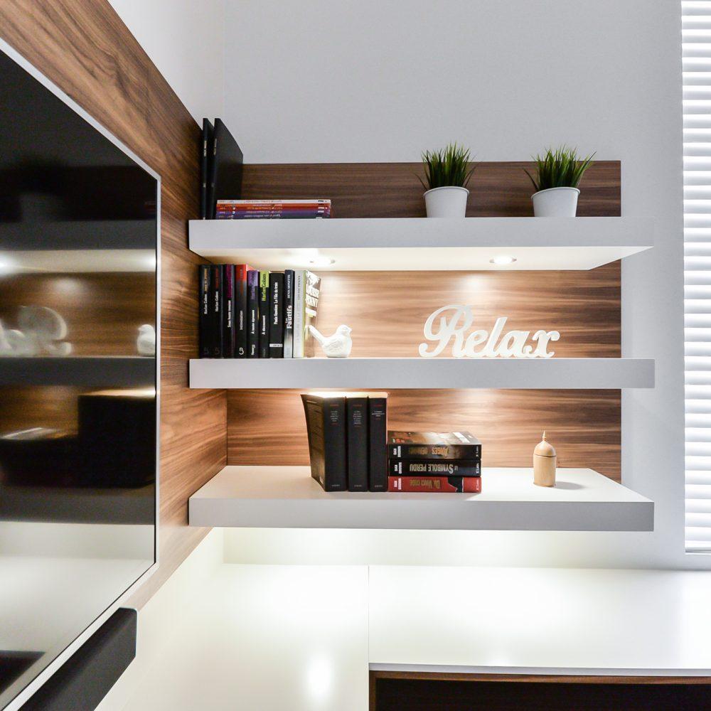 Cabico Custom Cabinets - Projet salon Winterly - Tablettes