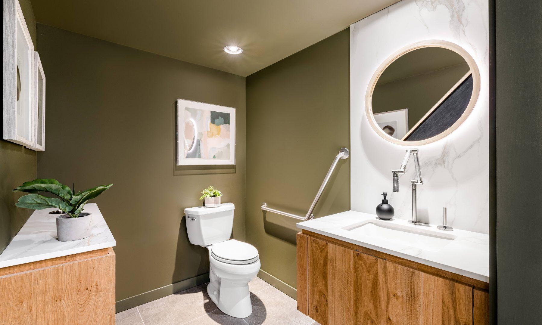 Elmwood Wood Cabinets Kitchen - Blanshard bathroom project - overview