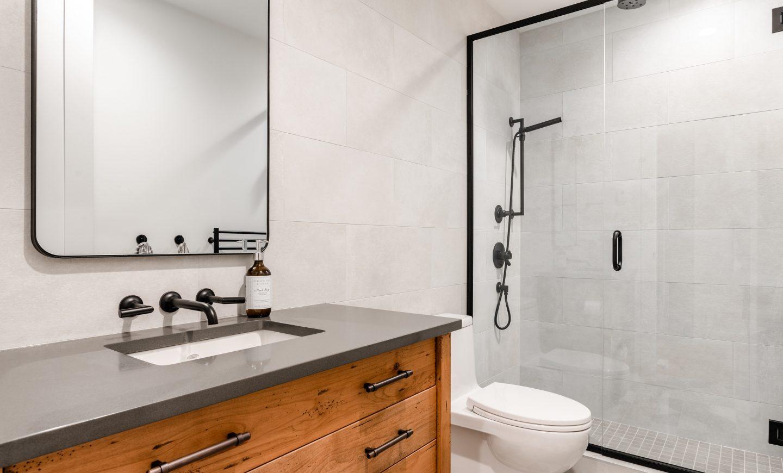 Elmwood Wood Cabinets Kitchen - Oak Bay VIllage bathroom project - overview