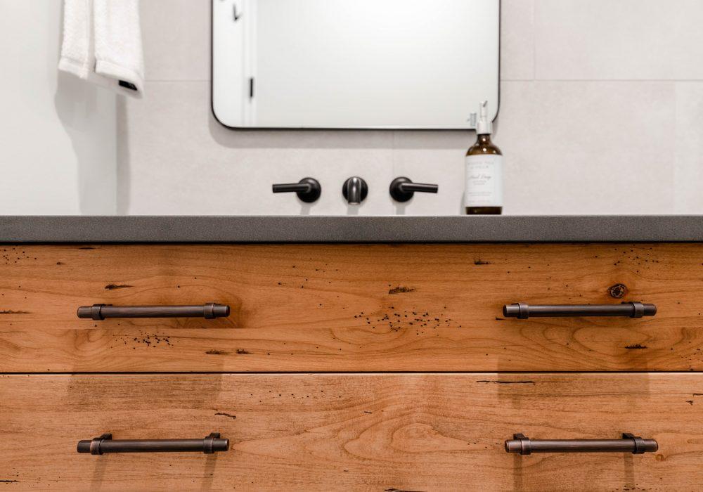 Elmwood Wood Cabinets Kitchen - Oak Bay VIllage bathroom project - drawer view