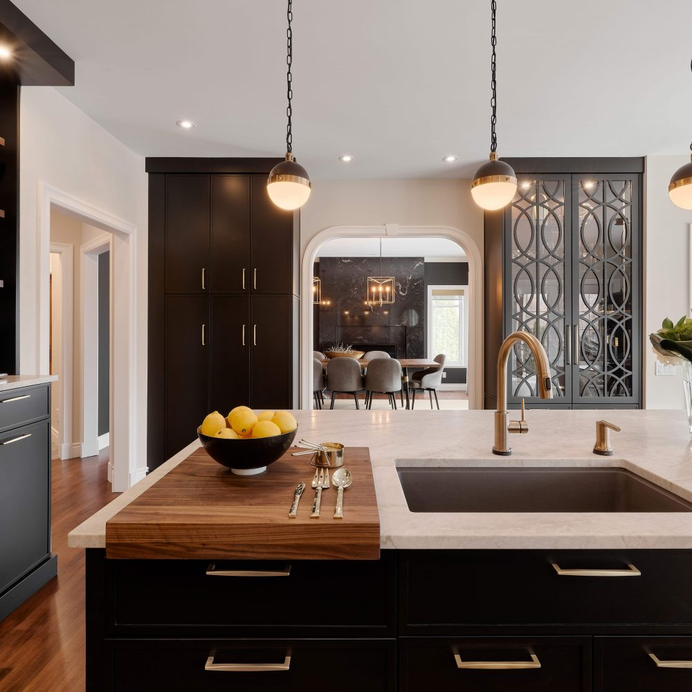 Elmwood Wood Cabinets Kitchen - Candide kitchen project - View on the dressers